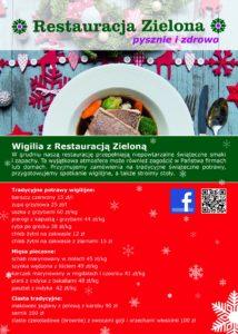 Wigilijne menu Restauracji Zielonej - strona 1